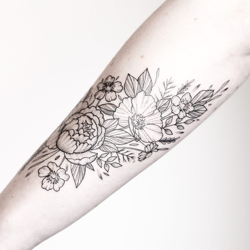 Floral Tattoo by rachainsworth